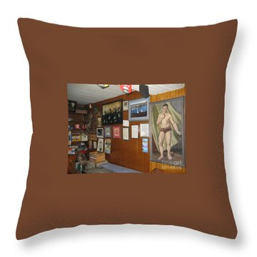 Throw Pillow featuring the painting Ballydehob Recolections by Val Byrne
