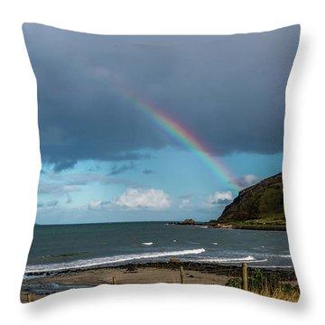 Ballygally Rainbow Throw Pillow