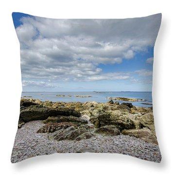 Balnahard Beach Throw Pillow