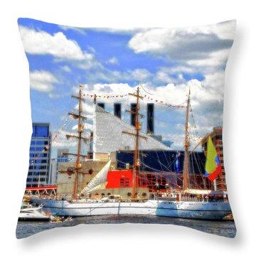 Baltimore's 2012 Sailibration Throw Pillow