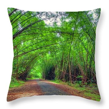 Bamboo Cathedral 2 Throw Pillow