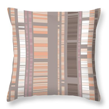 Bamboo Forest Abstract Throw Pillow