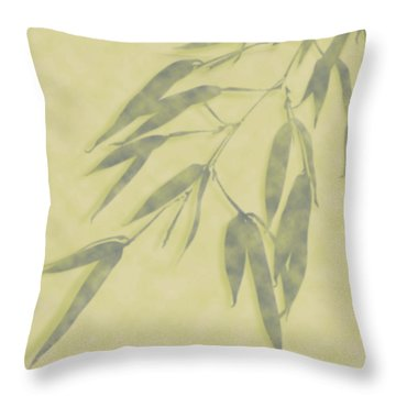 Bamboo Leaves 0580b Throw Pillow