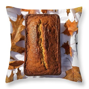 Banana Bread With Rum, Ginger And White Whole Wheat Throw Pillow