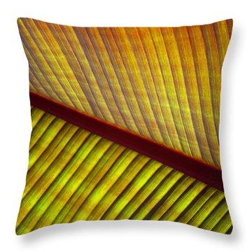 Banana Leaf 8603 Throw Pillow