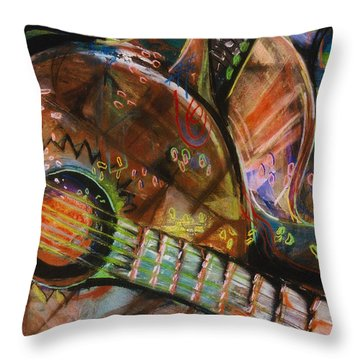 Banjos Jamming Throw Pillow