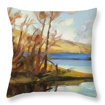 Banking On The Columbia Throw Pillow