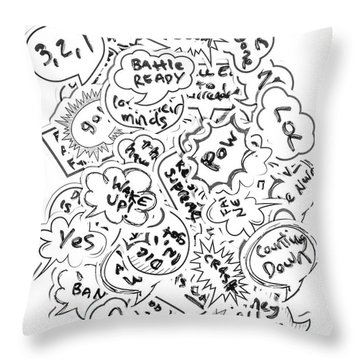 Banter Bubbles From A Comic Creation Throw Pillow