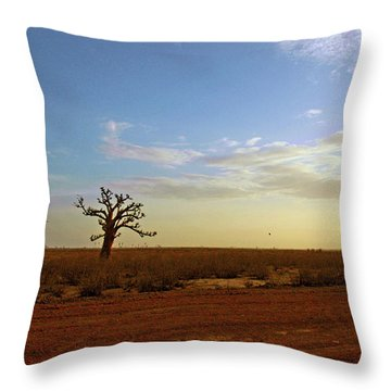 Throw Pillow featuring the photograph Baobab Tree At Sunset by Mark Duehmig