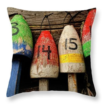 Bar Harbor Bouys Throw Pillow