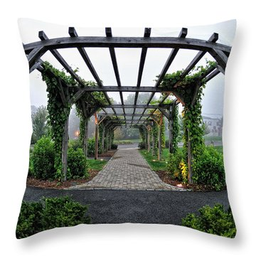 Bar Harbor Pergola Throw Pillow