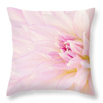 Throw Pillow featuring the photograph Barely There Dahlia by Mary Jo Allen