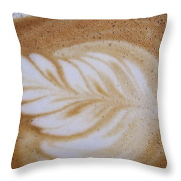 Barista Impressionism Throw Pillow