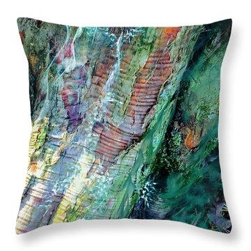 Throw Pillow featuring the digital art Bark L'verde  by Cindy Greenstein