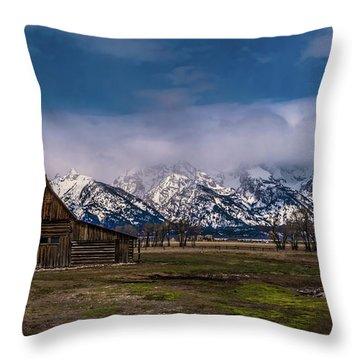 Barn At Mormon Row Throw Pillow