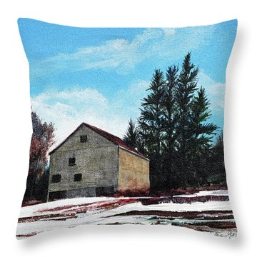 Barn Harlow, Ma Throw Pillow