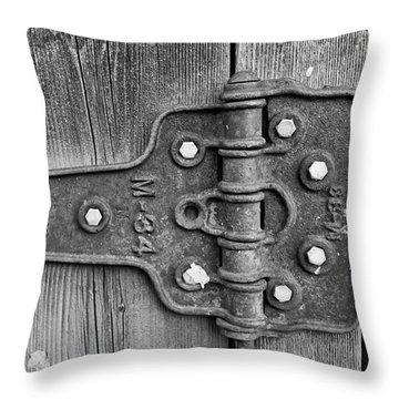 Barn Hinge Throw Pillow