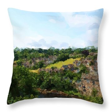 Barnard Castle View Throw Pillow