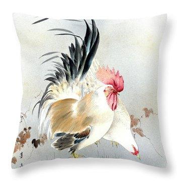 Barnyard Fowl Throw Pillow