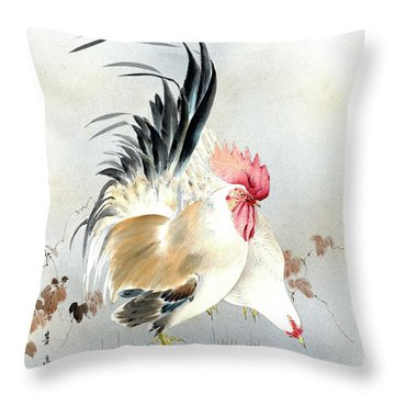 Barnyard Fowl Throw Pillow