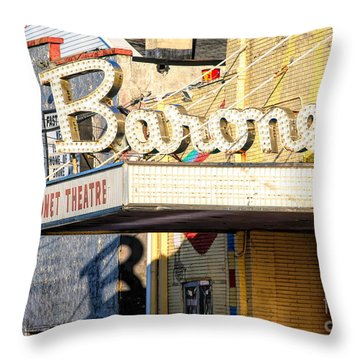Baronet Theater Asbury Park New Jersey 1913 Demolished In 2010 Throw Pillow