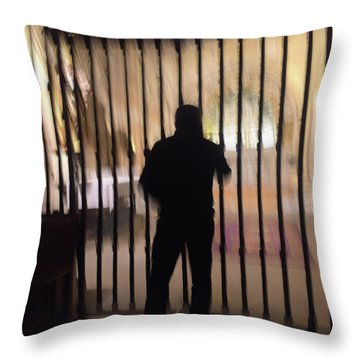 Throw Pillow featuring the photograph Barred From Heaven by Alex Lapidus