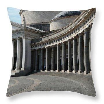 Basilica San Francesco Di Paola Throw Pillow