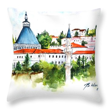 Basillica Of Annunciation Throw Pillow
