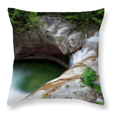 Basin From Above, Nh Throw Pillow