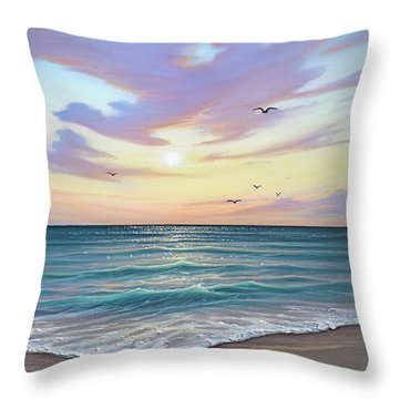 Basking In The Sunset Throw Pillow