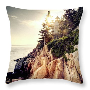 Bass Harbor Throw Pillow
