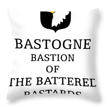 Bastohne Bastion Of The Battered Bastards Of The 101st Hip Hop Throw Pillow