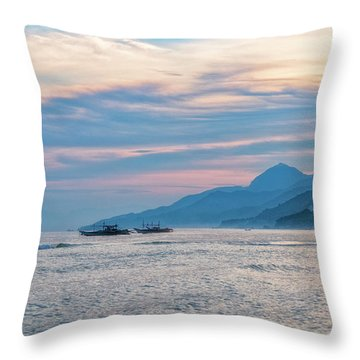 Throw Pillow featuring the photograph Batangas Sunset by Russell Pugh