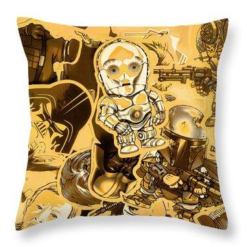 Battle Of A Sci-fi Design Throw Pillow