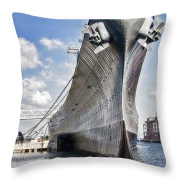 Battleship Uss Wisconsin Bb64 Throw Pillow
