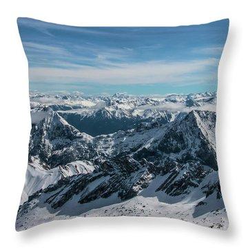Bavarian Alps Throw Pillow