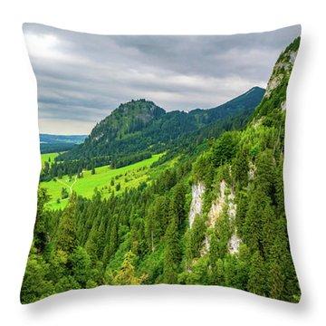Bavarian Alps Panorama Throw Pillow
