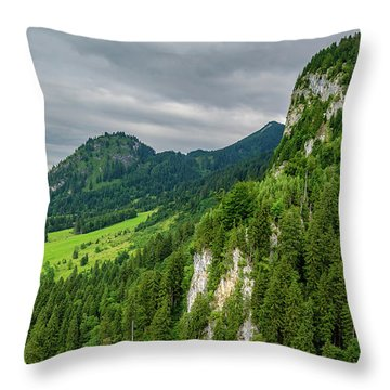 Bavarian Landscape II Throw Pillow