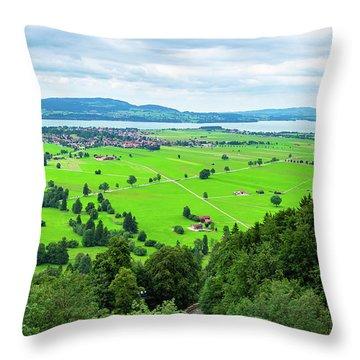 Bavarian Landscape IIi Throw Pillow