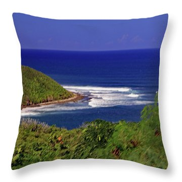 Throw Pillow featuring the photograph Bay In St Kitts by Tony Murtagh