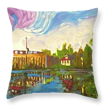 Bayou Saint John One Throw Pillow