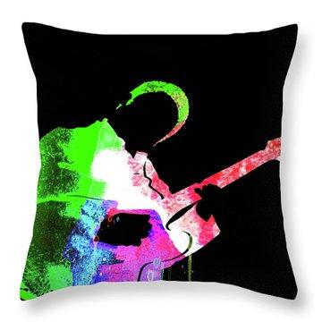 Bb King Watercolor II Throw Pillow