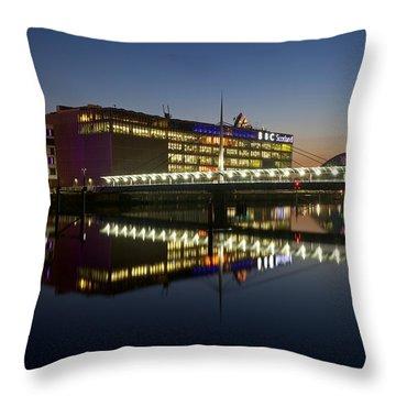 Bbc Scotland Studios Throw Pillow