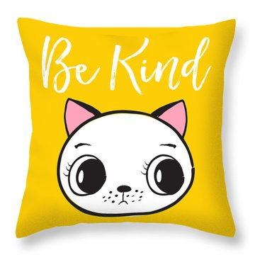 Be Kind - Baby Room Art Poster Print Throw Pillow
