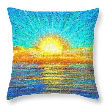 Beach 1 6 2019 Throw Pillow
