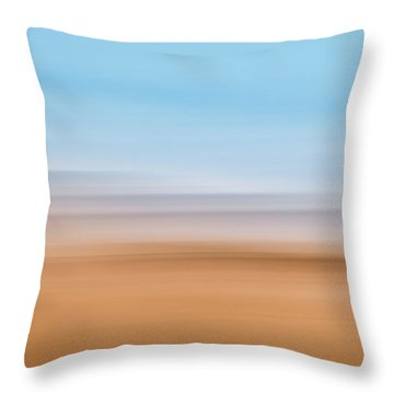Beach Abstract Throw Pillow