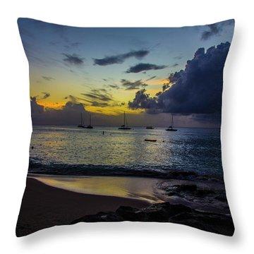 Beach At Sunset 3 Throw Pillow