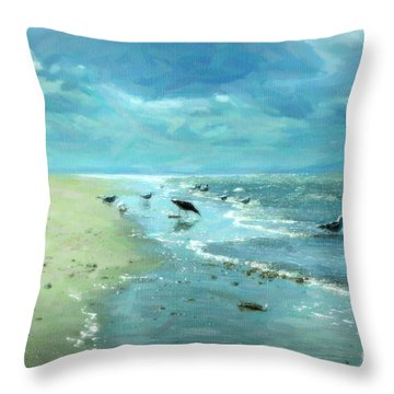 Beach Blues IIi Throw Pillow