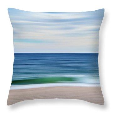 Beach Blur Throw Pillow