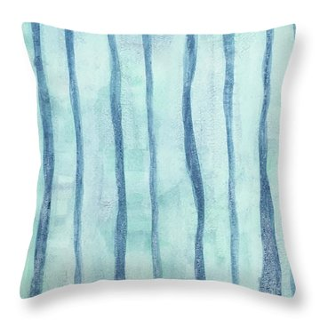 Beach Collection Beach Water Lines 2 Throw Pillow